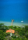 Small houses near lagoon brazil Royalty Free Stock Photo