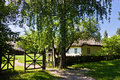 Small hut in open air folk museum pereyaslav khmelnitsky ukraine Stock Images