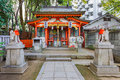 Small Inari shrine in Ikuatjinja in Kobe Royalty Free Stock Photography