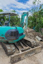 A small industrial digger Royalty Free Stock Photo