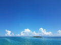 Small island and beautiful water in Florida Keys Royalty Free Stock Photo