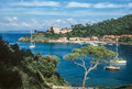 Small island of port cros cote azur france Royalty Free Stock Images