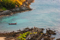 Small island in the sea near phuket thailand Royalty Free Stock Image