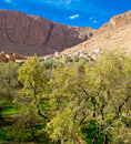 Small Kasbah in atlas mountains,morocco Royalty Free Stock Images