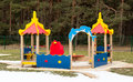Small kids playground equipment outdoors Stock Photo
