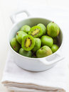 Small kiwis in the bowl Stock Images