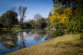 Small lake in the park Royalty Free Stock Photography