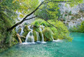 Small lake and waterfall Royalty Free Stock Image