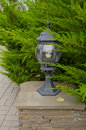Small lamp in park Stock Images