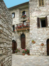 Small lane in Assisi - Italy Royalty Free Stock Photos