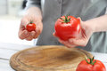 Small or large? tomato flavor Royalty Free Stock Photo