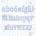 Small letters on notebook Royalty Free Stock Photo
