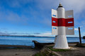 Small lighthouse chiloé island chile Stock Images