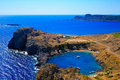 Small Lindos Bay Royalty Free Stock Photography