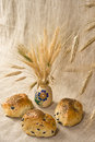 Small loaves of bread with olives Royalty Free Stock Photography
