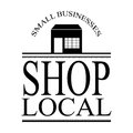 Small local business sign vector with building and frame Royalty Free Stock Photo