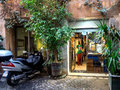 Small local shop in rome italy Royalty Free Stock Photo