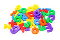Small magnet letters Royalty Free Stock Photo