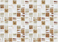 Small marble square tiles with beige color effects Royalty Free Stock Photo