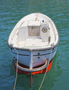 Small Motor Boat Tied Up Royalty Free Stock Photography