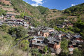 Small Mountain Village Royalty Free Stock Photos