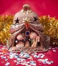 Small Nativity scene. Royalty Free Stock Photo