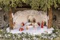 Small nativity scene at Crodo, Ossola Royalty Free Stock Photo