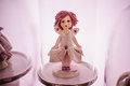 Small nice ceramic doll statuette Royalty Free Stock Photo