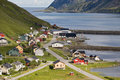 Small norwegian fisher's village Stock Photo