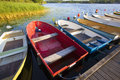 Small old fishing boats photo of Royalty Free Stock Photography