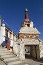 Small old stupa in Leh, Ladakh Royalty Free Stock Photo