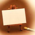 Small Painter Canvas Stock Image
