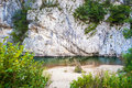 Small paradise with river sand and rocks Stock Images