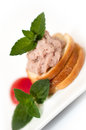Small pate sandwich wholemeal bread with and vegetables Royalty Free Stock Photography