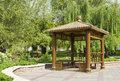 Small pavilion in park tehran iran Royalty Free Stock Image