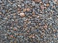 Small pebbles on a gray background