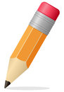 Small pencil icon on white background internet blog or educational concept Royalty Free Stock Photography