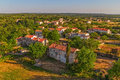 Small picturesque istrian village shoot from a helicopter croatia Stock Image