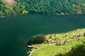 Small Picturesque Village Near Sognefjord Fjord In Norway. Amazi Royalty Free Stock Photo