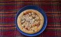 Small pizza with sausage Royalty Free Stock Photo