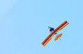 Small plane on blue sky a Royalty Free Stock Image