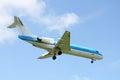Small plane landing Royalty Free Stock Photo
