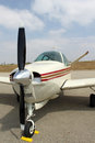 Small plane nose Royalty Free Stock Photo