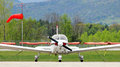 Small plane parked Royalty Free Stock Photo