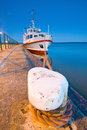Small pleasure boat baltic sea Royalty Free Stock Photography