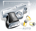 Small pocket gun Royalty Free Stock Photo