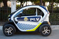 Small police car valencia spain january a renault twizy electric being used by the valenica spain the twizy was the top selling Royalty Free Stock Image