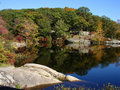 Small pond in Harriman state park, NY Royalty Free Stock Photo
