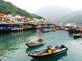 Small port on an island in China Stock Photography