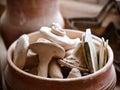 Small pottery closeup Royalty Free Stock Photo